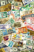 Broker Photos - International Currencies by Russell Shively