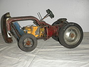Metal Art Sculpture Originals - International Harvester by Michael Sauro
