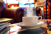 Cafe Photo Prints - Internet Cafe Print by Olivier Le Queinec