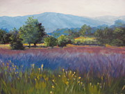 Blue Ridge Parkway Paintings - Interpretation of Color by Janet Wimmer