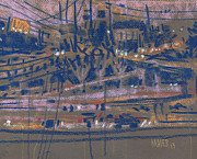 Highway Drawings - Interstate Seventy Five by Donald Maier
