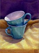 Abstract Realism Paintings - Into Cups by Jane Bucci