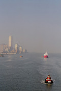 New York Skyline Art - Into Port by Joann Vitali