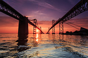 Bay Bridge Prints - Into Sunrise - Bay Bridge Print by Jennifer Casey