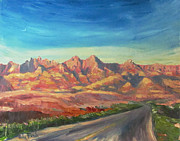 Badlands Painting Originals - Into the Badlands by John French
