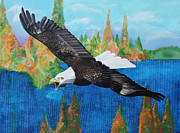 Eagle Painting Originals - Into The Future by John Keaton