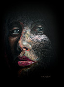 Face Drawings Metal Prints - Into the Light Metal Print by Frank Robert Dixon