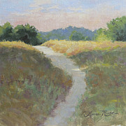Gravel Road Painting Framed Prints - Into the Morning Light Framed Print by Anna Bain