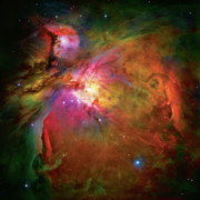 Red Photo Framed Prints - Into the Orion Nebula Framed Print by The  Vault