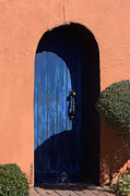 Las Cruces Art Prints - Into the Shadows of the Blue Door Print by Barbara Chichester