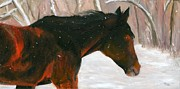 Farm Scenes Originals - Into the Snow by Deborah Butts