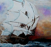 Liner Mixed Media - Into the Storm by Eloise Schneider