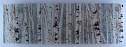 Fused Glass Art - Into the Woods-Birch by Michelle Rial
