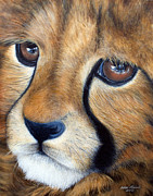 Bigcat Posters - Into You - Cheetah Cub in Acrylic Poster by Andrea Michael