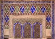 Moroccan Photos - Intricate Painted And Stucco Patterns by Lizzie Shepherd