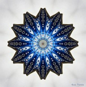 Intricate Shades Of Blue Print by Renee Trenholm