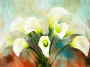 Calla Lily Digital Art Posters - Intricately Poster by Lourry Legarde