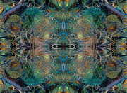 Patterned Digital Art Prints - Intrigue of Mystery Four of Four Print by Betsy A Cutler East Coast Barrier Islands