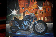Suzuki Paintings - Intruder in Blue by Frankie Picasso