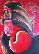 Hornbill Painting Framed Prints - Intsingizi The Rain Queen Framed Print by Nqobile victor Mkhungo
