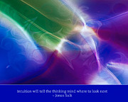 Witkowski Digital Art Posters - Intuition and the Thinking Mind Poster by Omaste Witkowski