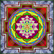 Sacred Digital Art Metal Prints - Intuition Sri Yantra I Metal Print by Dirk Czarnota