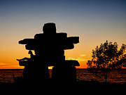 Andrea Kollo Metal Prints - Inukshuk  Metal Print by Andrea Kollo