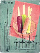 Mold Framed Prints - Invention of the Ice Pop Framed Print by Edward Fielding