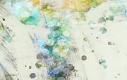 Collectible Mixed Media Prints - Inversion abstract art Print by Ann Powell