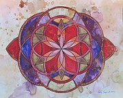 Burger Mixed Media Framed Prints - Invictus Mandala Framed Print by Holly Burger