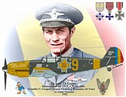 Dogfight Mixed Media - Ioan Di Cesare - Romanian WW II Ace by A Hermann