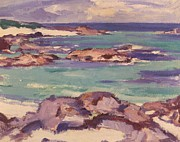 Isolated Painting Prints - Iona Print by Samuel Peploe