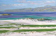 Picturesque Painting Posters - Iona Sound and Ben More Poster by FCB Cadell