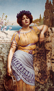 John Digital Art - Ionian Dancking Girl by John William Godward