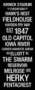 Elliott Prints - Iowa College Town Wall Art Print by Replay Photos