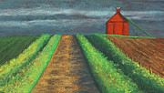 Barn Pastels Prints - Iowa Country Road Print by Garry McMichael