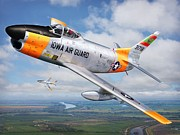 North American Aviation Prints - Iowa Guardian Print by Stu Shepherd