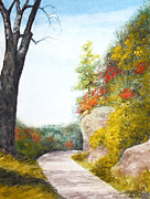 Iowa Pastels Prints - Iowa Ledges Print by Flo Hayes