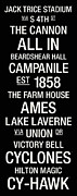 Farm House Photos - Iowa State College Town Wall Art by Replay Photos