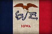 Iowa State Flag Print by Pixel Chimp
