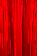 Shiny Fabric Posters - iPhone Case - Red Curtain Poster by Alexander Senin