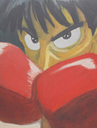Boxer Painting Framed Prints - Ippo Framed Print by Ryan Scales