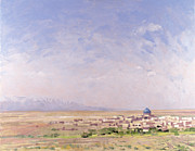 Desert View Paintings - Iran by Bob Brown