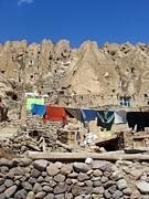 Iran Kandovan Stone Village Laundry Print by Lois Ivancin Tavaf