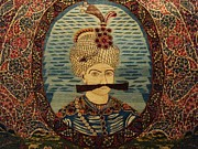 Persian Carpet  Metal Prints - Iran King Abbas Carpet Museum Tehran Metal Print by Lois Ivancin Tavaf