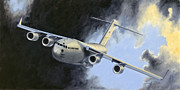 Jet Painting Framed Prints - Iraqi Bound Framed Print by Bob Wilson