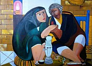Old Iraqi City Paintings - Iraqi tea by Rami Besancon