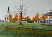 Vermont Autumn Originals - Irasburg Common in Autumn by Nicole Warner