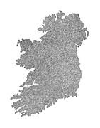 Ireland Map Digital Art - Ireland by Bojan Tunguz