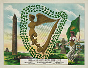 Emblems Digital Art - Irelands Historical Emblems by Digital Reproductions